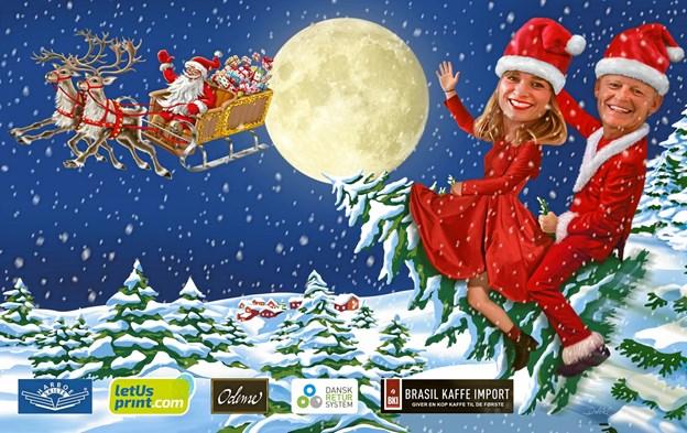 Bubber og Louise Dubiel slipper lørdag klokken 10 et moderne juleeventyr løs fra scenen på Store Torv i Hobro. Pr-foto