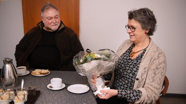 FGU-leder, Karen Marie Schytter blev fredag budt velkommen af bestyrelsesformand, Eskild Sloth Andersen. Foto: Hans Ravn