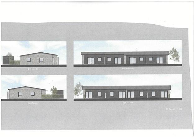 Sådan kommer de 14 rækkehuse i Sandgraven i Ø. Hornum til at se ud.