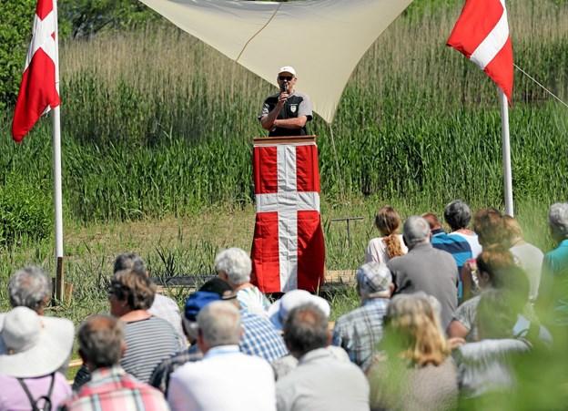 Teglværkssøerne ved Gandrup danner endnu engang ramme om lokal grundlovsfejring. Foto: Allan Mortensen