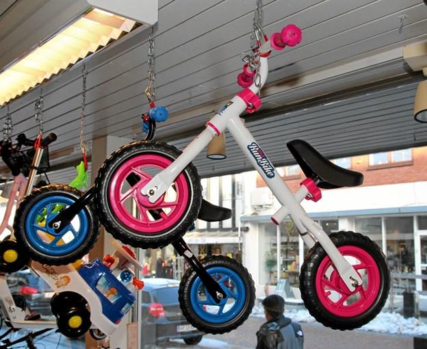 Der er også cykler til de mindste. Foto: Flemming Dahl Jensen Flemming Dahl Jensen