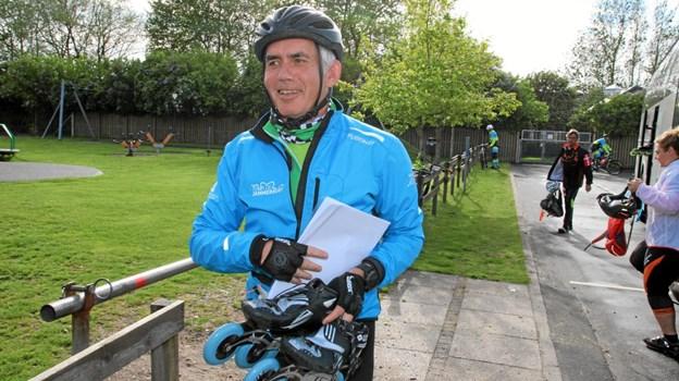 Noël Mignon har skøjterne med. Foto: Flemming Dahl Jensen Flemming Dahl Jensen