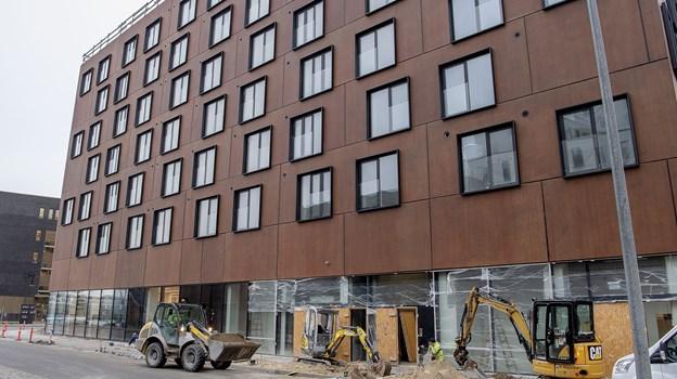 Det varer bare få uger, før Meny åbner her i Østre Havnegade. Foto: Lars Pauli