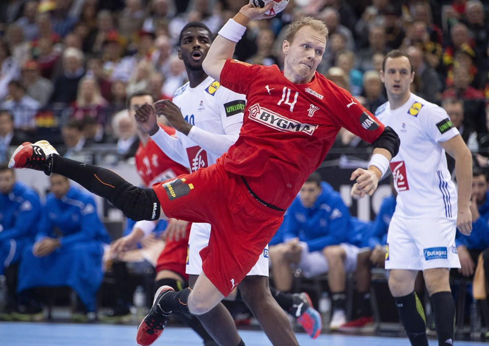 Anders Zachariassen leverede en rigtig flot offensiv indsats i semfinalen mod Frankrig. Foto: Liselotte Sabroe/Ritzau Scanpix