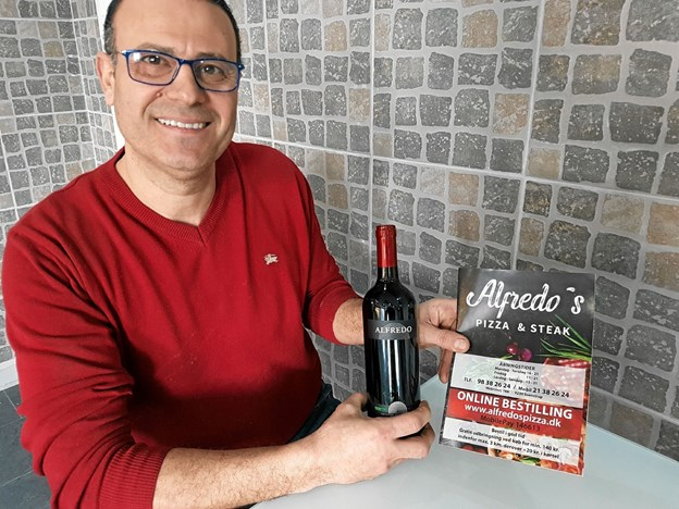 Alfredo har sikret sig eget italiensk vinmærke. Foto: Karl Erik Hansen Karl Erik Hansen