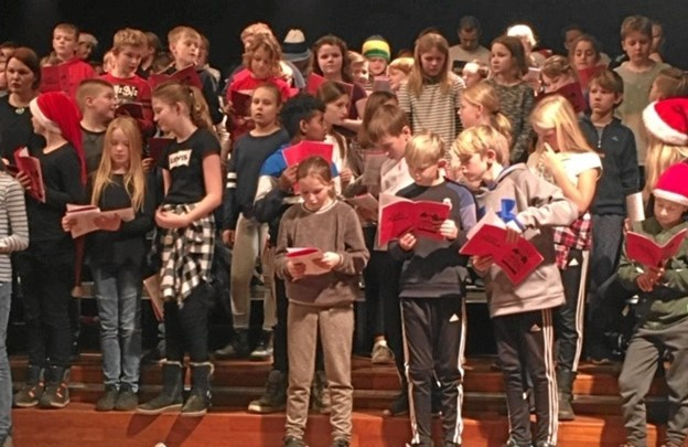 Alle 4. klasseelever fra de seks skoler var med - uanset sangstemme og musikalitet. Privatfoto