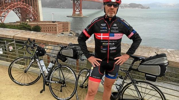 Peter Møller vil holde foredrag om hans lange tur igennem USA på cykel, efter han overvant en kræftsygdom.PR-Foto.