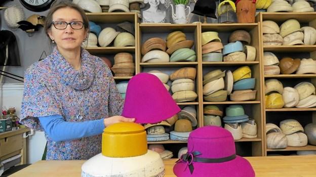 Hattemagerværkstedet i Vrensted gamle forsamlingshus. Foto: Kirsten Olsen Kirsten Olsen