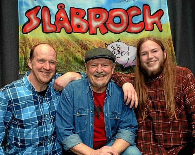 Slåbrock Trio i ny udgave spiller også... PR-Foto