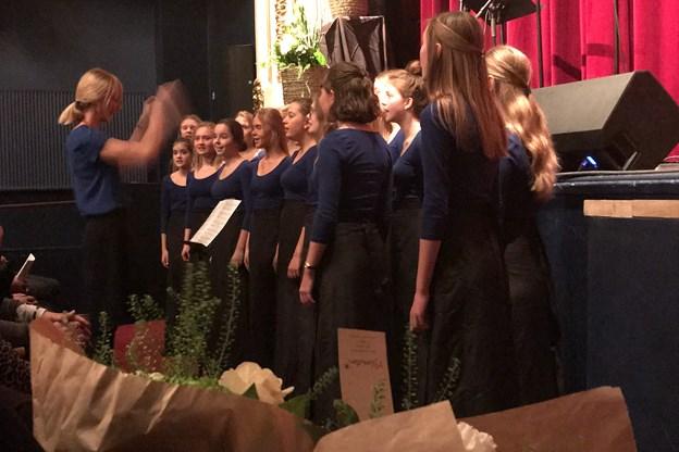 Spar Nords Kulturpris skulle også uddeles i år, og den gik til Nordjysk Pigekor. Privatfoto.