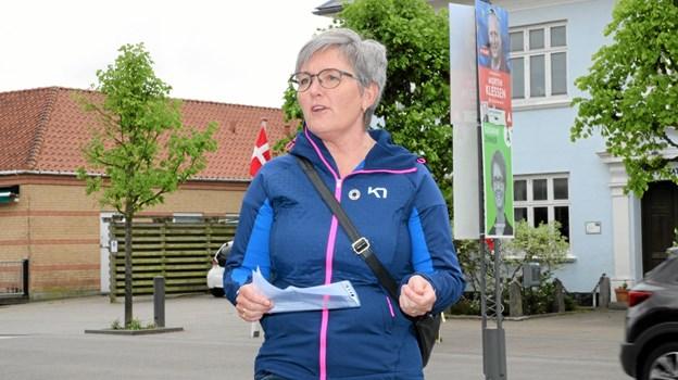 Diane Aarestrup holdt tale. Foto: Flemming Dahl Jensen Flemming Dahl Jensen