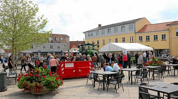 LandboNord havde igen i år god søgning til deres aktiviteter på Sæby torv. Foto: Tommy Thomsen