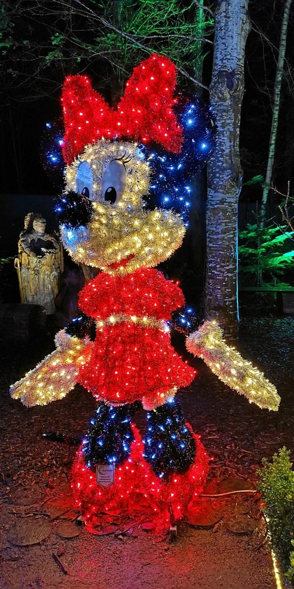 Smukke Minnie Mouse fra juleudstilling i Hune.Foto: Bente Lassen