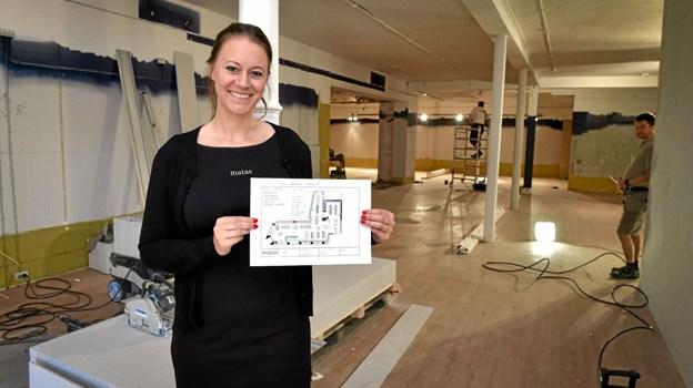 Butiksleder Nina Hansen glæder sig helt vildt til at åbne med den 235 kvadratmeter større butik (+ 60 m2) indrettet efter det nye Matas-Life koncept i den tidligere Fætter BR-butik.Foto: Ole Iversen
