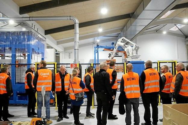 Mange besøgte den nye fabrik, da Bewi Synbra holdt en messe. Privatfoto