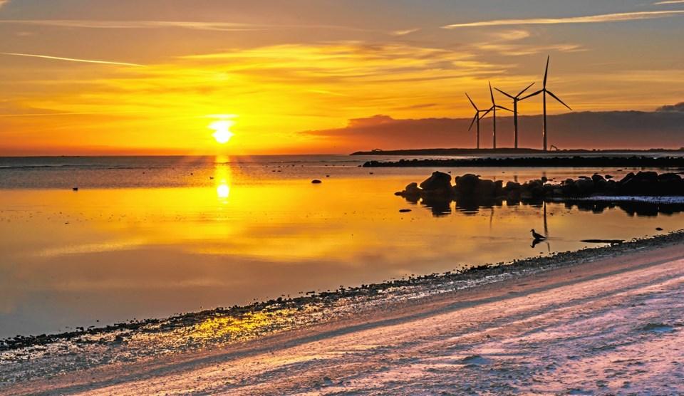 Solopgang på Palmestranden i Frederikshavn. Foto: Randi Møgelmose