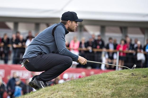 Den danske golfspiller Lucas Bjerregaard bliver nummer fem i Rocco Forte Open på Sicilien. Foto: Scanpix/Henning Bagger/arkiv