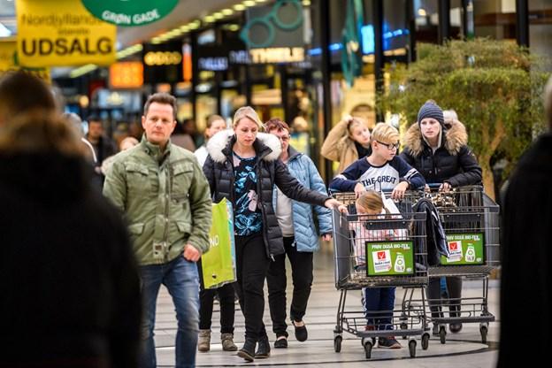 Aalborg Storcenter bliver det første sted i Aalborg, der markerer den verdensomspændende singles day. Arkivfoto: Nicolas Cho Meier