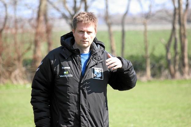 Træner Jesper Christiansen var tilkfreds med indsatsen. Foto: Flemming Dahl Jensen