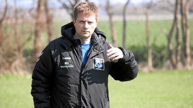 Træner Jesper Christiansen for Skovsgaard Boldklub. Foto: Flemming Dahl Jensen