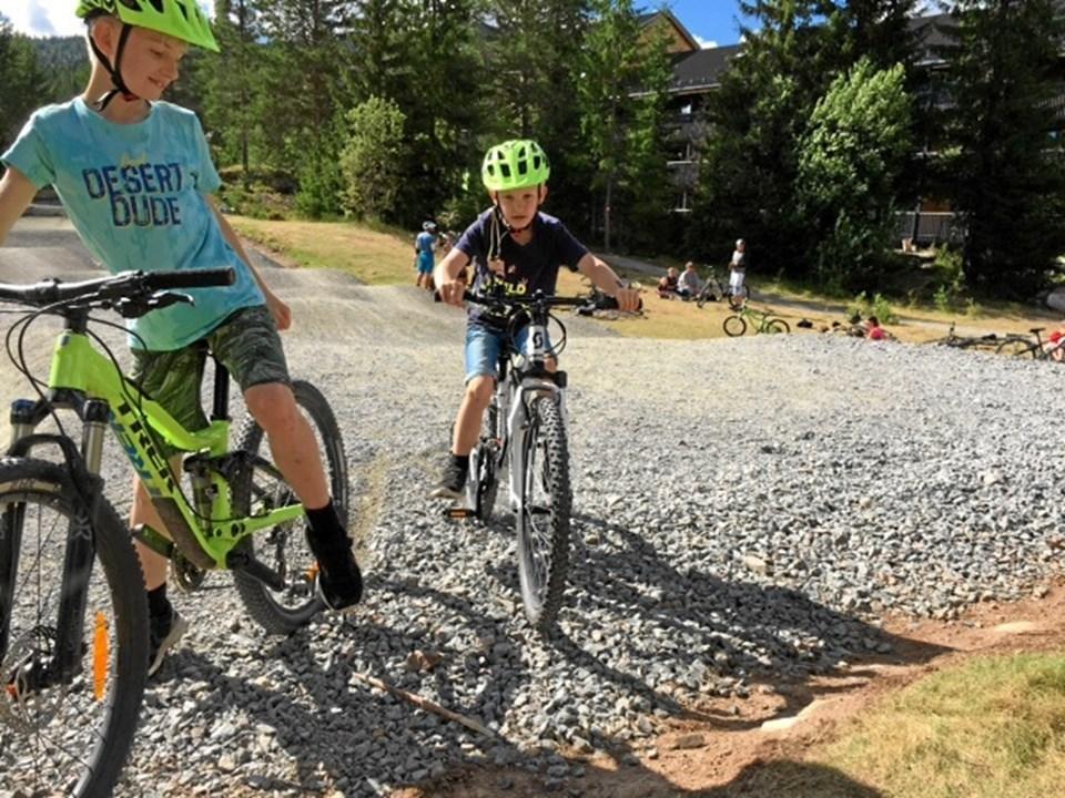 Der var gode muligheder for at cykle. Privatfoto