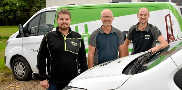 Jeppe Møller Nielsen og virksomhedens medarbejdere etablerer sig også i Brovst. Privatfoto