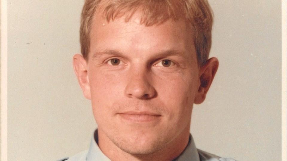 Flemming Sloth Andersen som helt ung politimand.