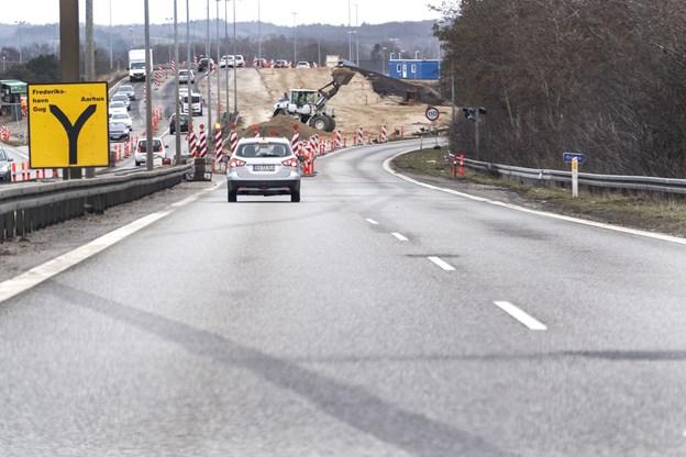 Ny spærring ved motorvej - men så er Egnsplanvej også færdig