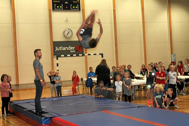 Dagen bød på opvisning fra flere af IF Frem Skørpings afdelinger - her gymnastikafdelingen. Foto: Søren Bojesen