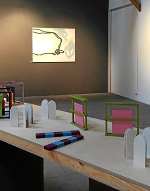To udstillinger i én i Langvad