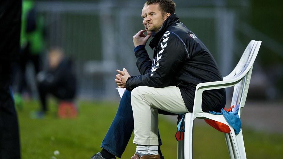 AGF-træner Jesper Fredberg så sit hold tabe for niende gang i træk. Foto: Scanpix