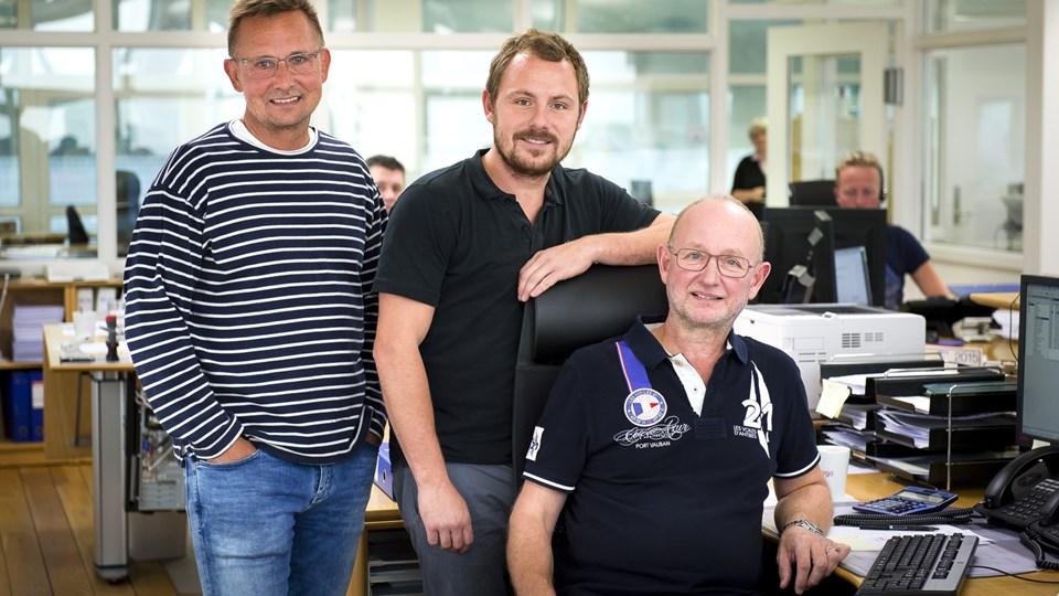 Virksomheden er grundlagt af Per Hansen (th). I dag er Tommy Nielsen (tv) og Rasmus Grønland medejere. Arkivfoto: Bo Lehm