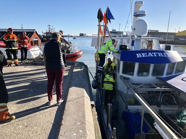Arbejdsulykke til søs: Skipper reddede sig selv i land