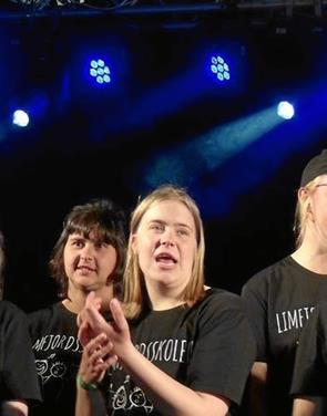 Limfjordsskolens kor optrådte på Sølund festival