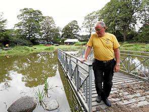 Byparken oversvømmet
