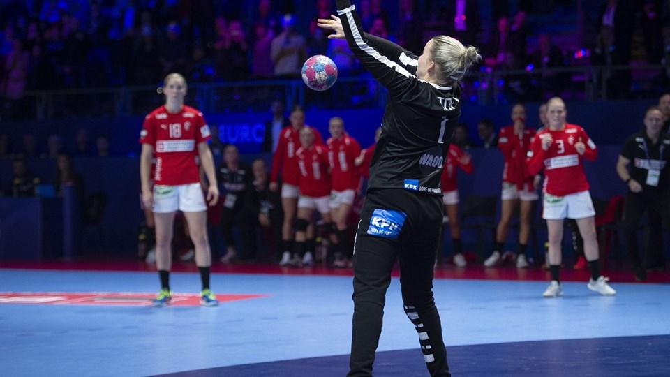 Sandra Toft spillede ikke nogen stor landskamp, men blev alligevel matchvinder for Danmark.