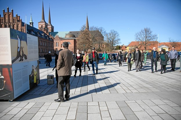 Her et eksempel på udstillingen, da den var i Roskilde. Foto: Maja Nydal Eriksen