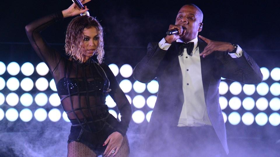 Ægteparret Beyoncé og Jay-Z optræder i Parken 23. juni. Foto: Scanpix/Frederic J. Brown/arkiv