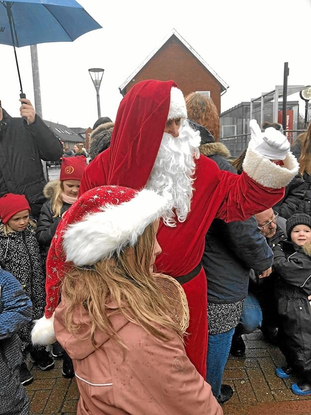 Julemanden ankom med toget kl. 14.54. Foto: Sofie-Amalie Bøss