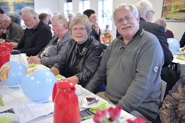 Birgit og Søren Borup var indstillet til prisen for deres arbejde i Røde Kors. Foto: Bente Poder