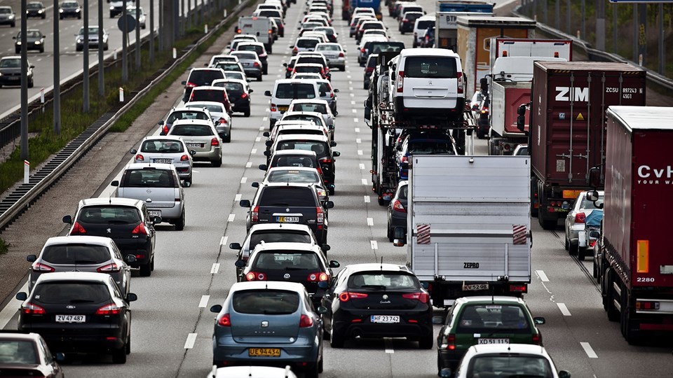 Vejdirektoratet vil med nyt tiltag gøre en ende på lange køer på motorveje efter uheld. Arkivfoto.