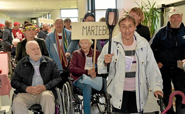 De ældre konkurrerede om guldmedaljerne