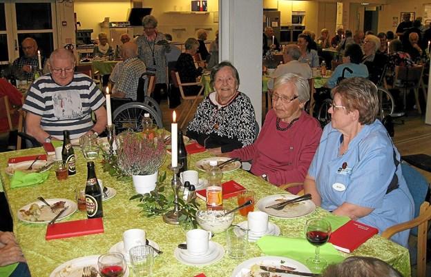 Den velsmagende mad blev nyd i de hyggelige lokaler på Kærbo i Ranum. Privatfoto