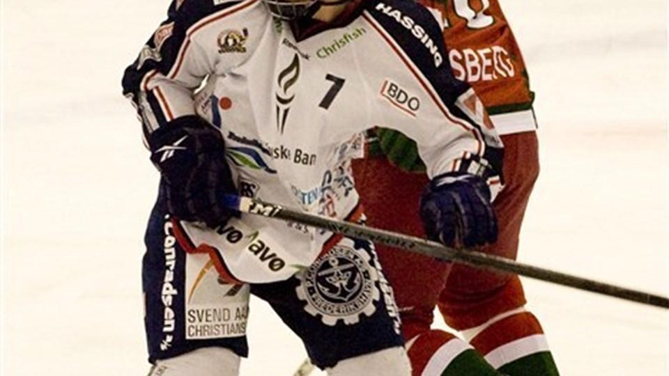 Thomas Søndergaard tager endnu en tørn hos White Hawks. Foto: Carl Th. Poulsen