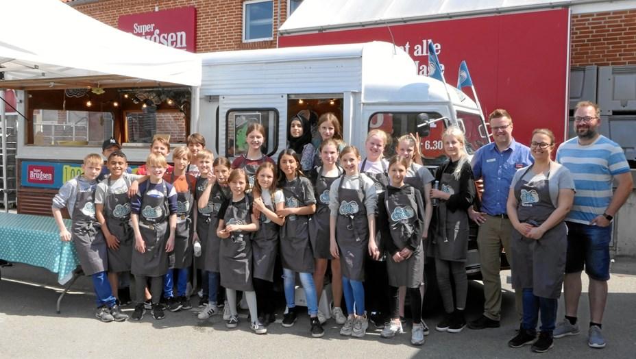 Mobilt køkken skabte børneliv ved Super Brugsen i Hobro