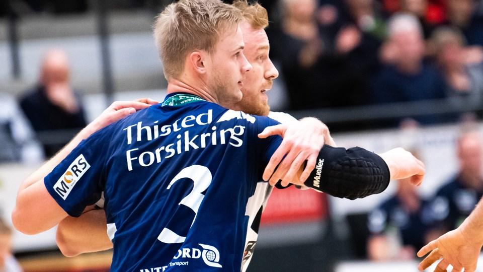 Thisted Forsikring har i mange år støttet lokale idrætsforeninger, og har netop fornyet en sponsoraftale med Mors Thy Håndbold.Arkivfoto: Diana Holm