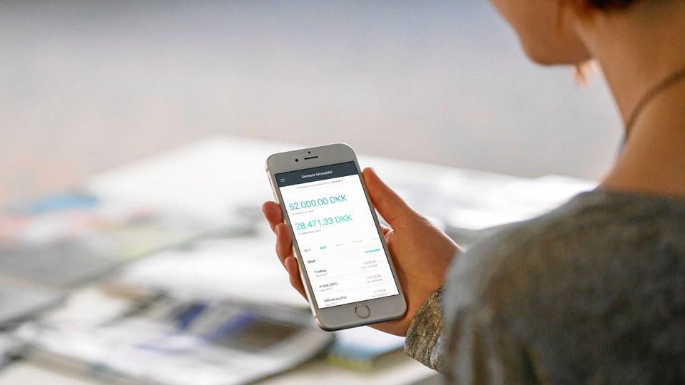Medarbejderne kan selv gå ind i systemet via en app.Foto: Zenegy