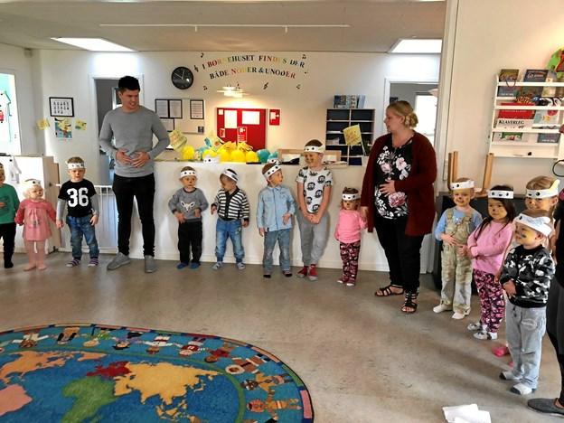 Både børn og voksne fik afløb for sangglæden i forbindelse med sangdagen i Gedsted. Privatfoto
