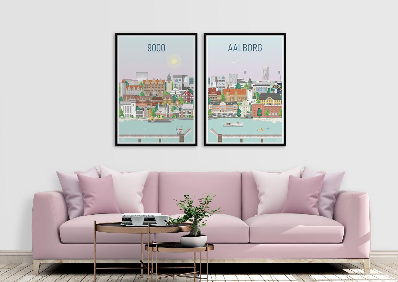 Aalborg hyldes med to nye plakater