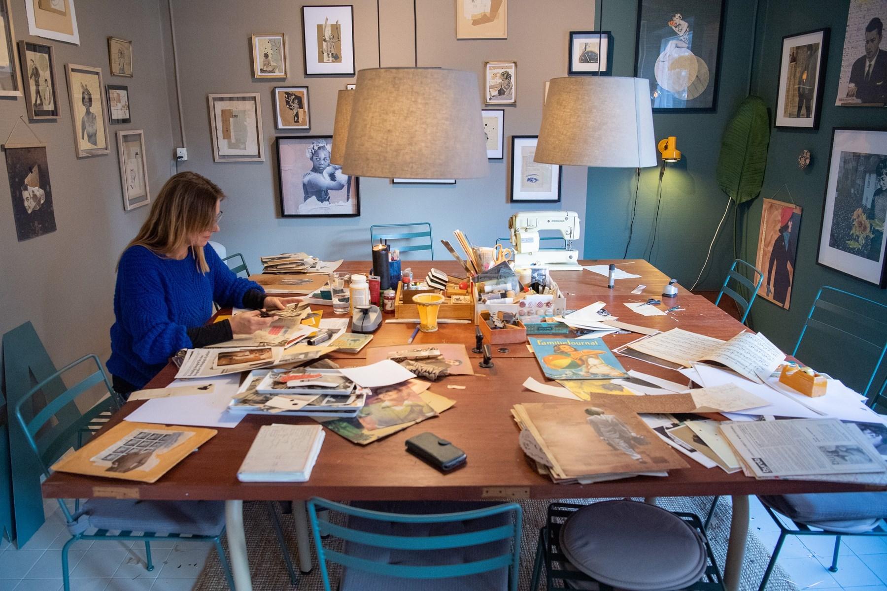 Gitte Lacarriere holder ofte workshops, hvor man selv kan komme og slippe kreativiteten løs. Foto: Kim Dahl